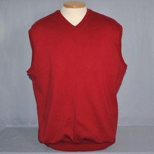 Polo Golf Ralph Lauren Mens Vest Size Large Red